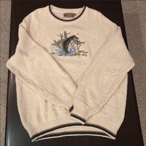 Shenandoah Cream Colored Crew Neck Sweater Size XL